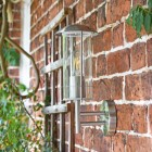 Contemporary Stainless Steel Wall Lantern Side View
