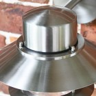 Contemporary Silver Overhanging Wall Light Top
