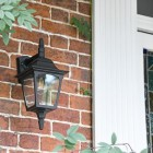 Traditional Black Top-Fix Wall Lantern