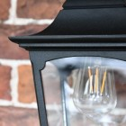 Traditional Black Top-Fix Wall Lantern Clear Panes