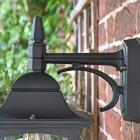Traditional Black Top-Fix Wall Lantern Upper Finial