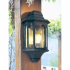 Moorside half wall lantern colour