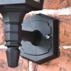 Black Traditional Wall Lantern Lower Finial