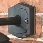 "Mounting Plate on the ""Moorside"" Traditional Top Down Black Wall Lantern"