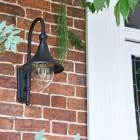 Deluxe Barn Hanging Wall Light in Situ