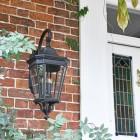 Large Black Ornate Victorian Wall Light