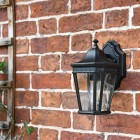 Side view of ornate wall lantern