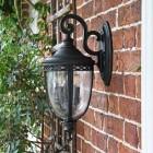 Traditional Top-Fix Black Wall Lantern