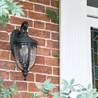 Medium Traditional Top-Fix Black Wall Lantern