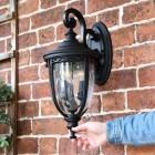 Medium Traditional Top Fix Black Wall Light