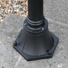 Black Lamp Post Base