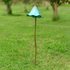 Tall Mushroom Garden Spike Finished in a Rustic Blue