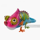 Colorful Finished Metal Chameleon Garden Ornament