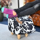 Cow Foot Stool in use