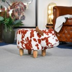 Buttercup, the Cow Foot Stool in Living Room