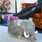 Wilma the Woolly Mammoth used as foot stool