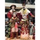 Christmas Carolling Family