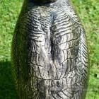Looking Up Bronze Finish Geese Garden Sculpture Detailing