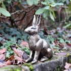 Gold Finish Sitting Rabbit Sculpture