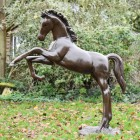 Side view of Rearing Horse Sculpture