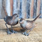 Set of two cast birds