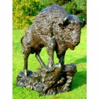 Cast Aluminium Buffalo Sculpture
