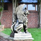 Side view of Cat Griffin Sculpture in Full