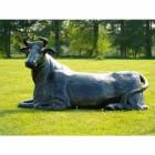 Cast Aluminium Laying Cow Sculpture