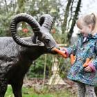 Ram Sculpture with child