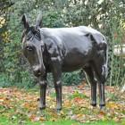 Donkey Garden Sculpture in Bronze Finish