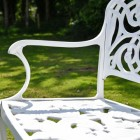 Close up of section of bench with detailing