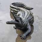 Baby Alligator Sculpture in an Antique Bronze Finish