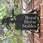 Dressage Horse Iron Bracket House Name Sign in Situ