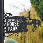 Dressage Horse House Name Sign