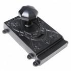 Ornate Black Iron Rim Lock - Reversible