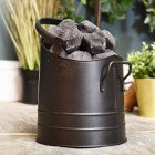 Black Minimalistic coal hod with carry handle1