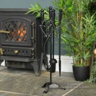 Medieval Styled Companion Set in Situ by the Fire Place