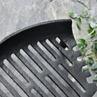 Close up of curved fire grate