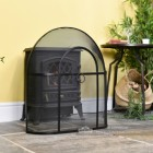 Black Arched Fire Guard