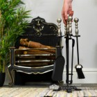 Black Four Tool Companion Set with Sculpted Pewter Handles to Scale