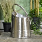 Modern Coal Hod Finished in Pewter