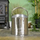Contemporary Coal Hod in Pewter