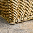 Bottom of Natural Finish Wicker Log Basket
