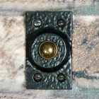 Traditional Rectangular Door Bell Push Finished in Black