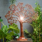 Large Tree of Life Rustic Table Lamp