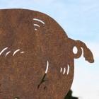 Close up of Rustic Female Pig Silhouette