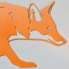Close-up of the Head on the Orange Fox Wall Art