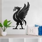 Liver Bird Steel Wall Art in a Modern Home