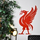 Large Liver Bird Steel Wall Art- Red