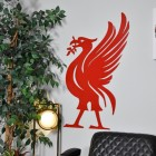 Liver Bird Large Wall Art in Red